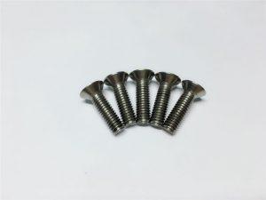 M3, M6 sekrup titanium, Kepala datar, Soket kepala, Sekrup titanium flens untuk operasi tulang belakang