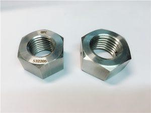 No.76 Duplex 2205 F53 1.4410 S32750 pengencang stainless steel, mur hex tebal