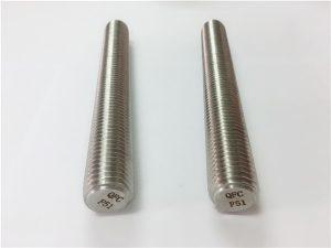 No.77 Duplex 2205 S32205 pengencang stainless steel DIN975 DIN976 batang berulir F51