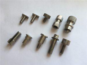 disesuaikan presisi tinggi sekrup tidak standar, stainless steel cnc mesin sekrup