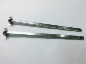 hardware pengikat pemasok 316 stainless steel kepala datar leher persegi din603 m4 kereta baut
