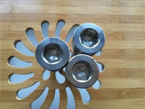 Kualitas tinggi ASEM hex socket titanium gr2 sekrup / baut / mur / mesin cuci /